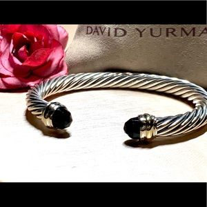 David Yurman 7mm Black Onyx 14k Cuff